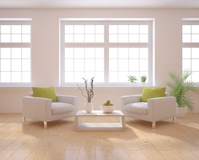 Modern minimalist living corner sofa blue large-sized apartment